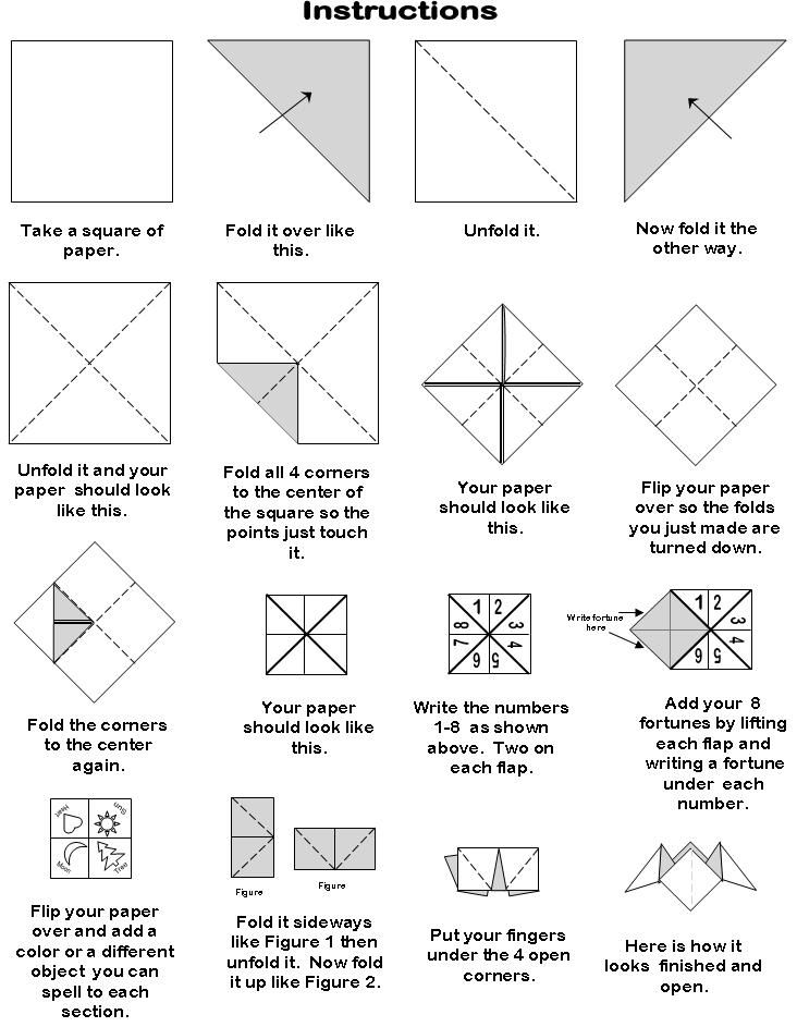 paper box folding instructions