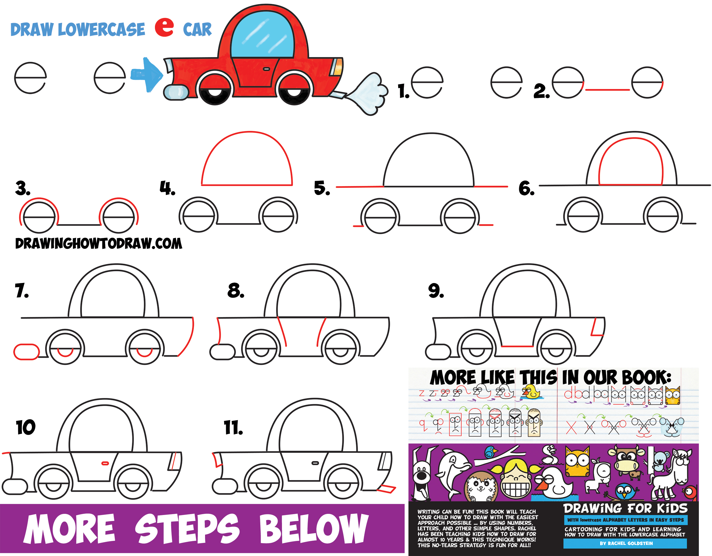 how to draw a car step by step instructions