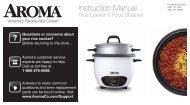 aroma 14 cup rice cooker instructions