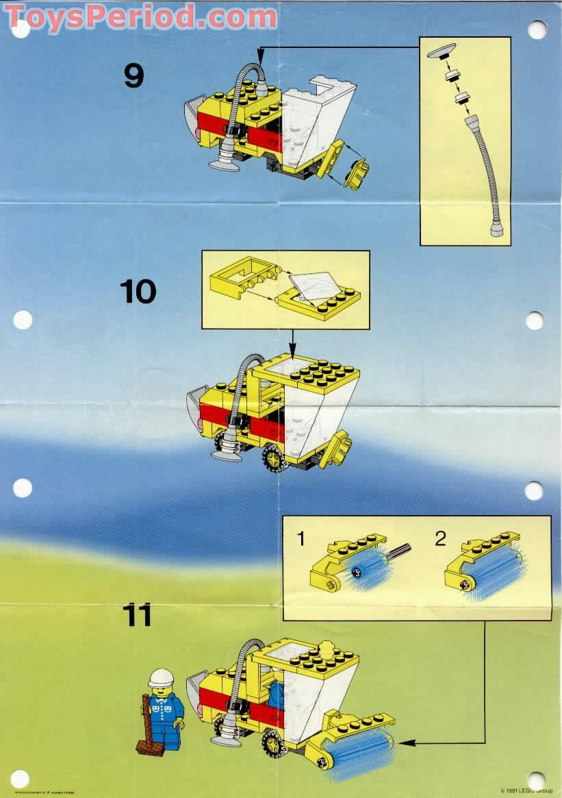 lego sweeper and excavator instructions