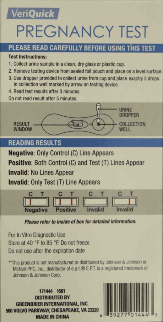 rexall pregnancy test instructions