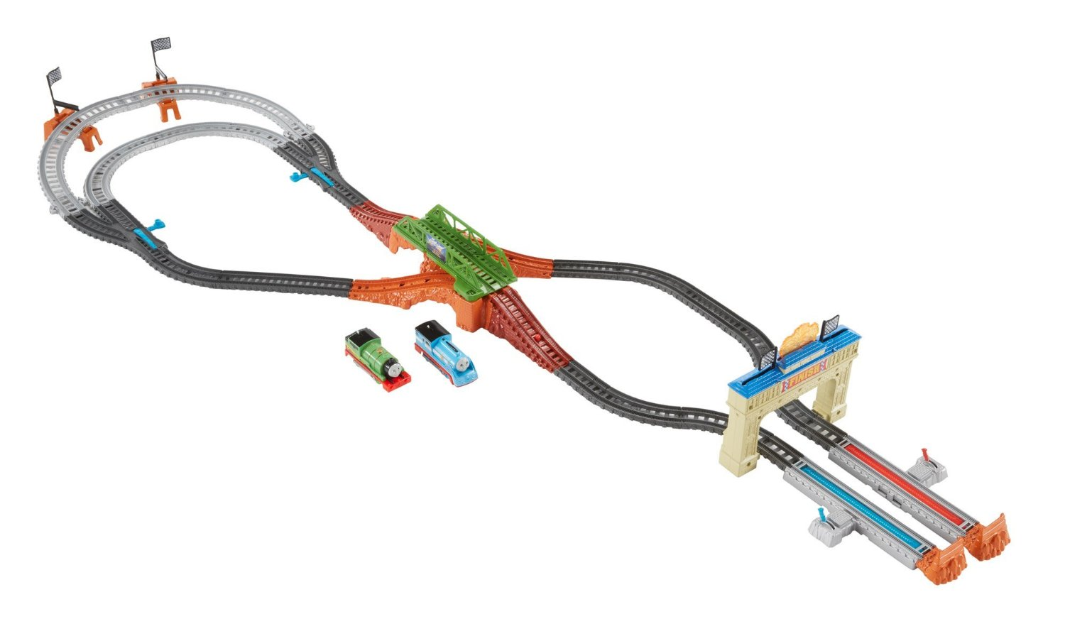 trackmaster railway race set assembly instructions